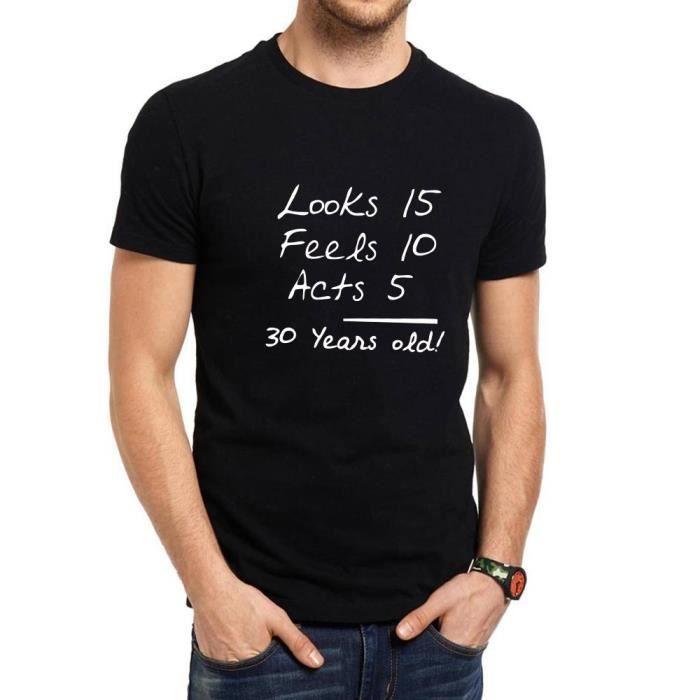 Cadeau D Anniversaire Pour Homme 30 Ans T Shirts Homme Humour Tee