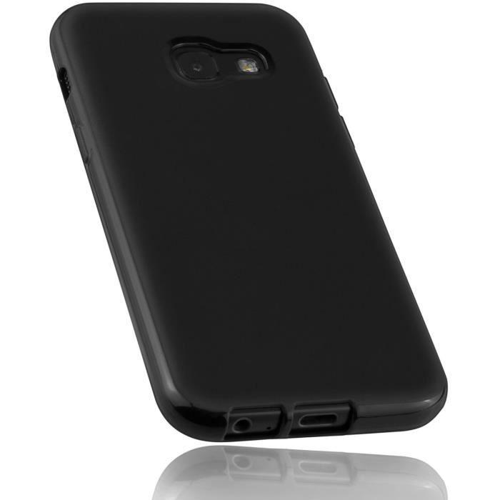 Mumbi Coque de Protection pour Samsung Galaxy A6 Noir Transparent