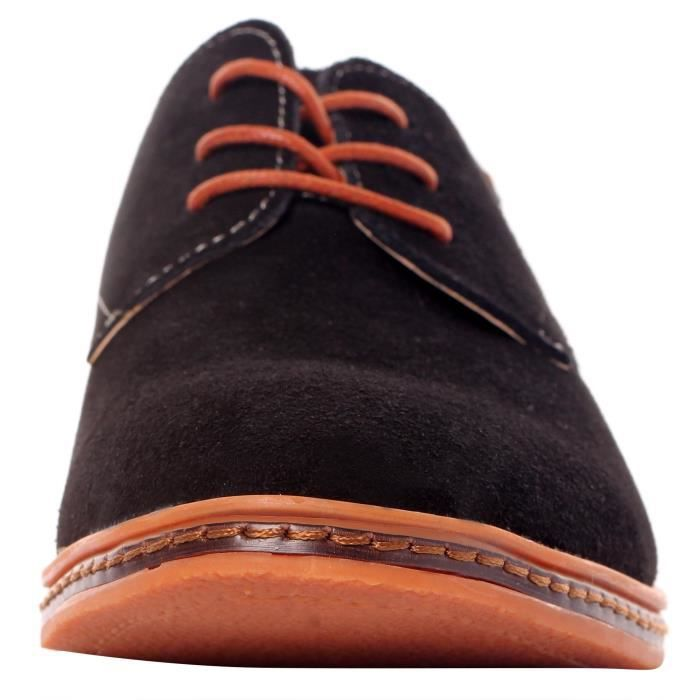 Serene Casual Lace Up en cuir richelieu souple respirant Mode FLW2B Taille-46