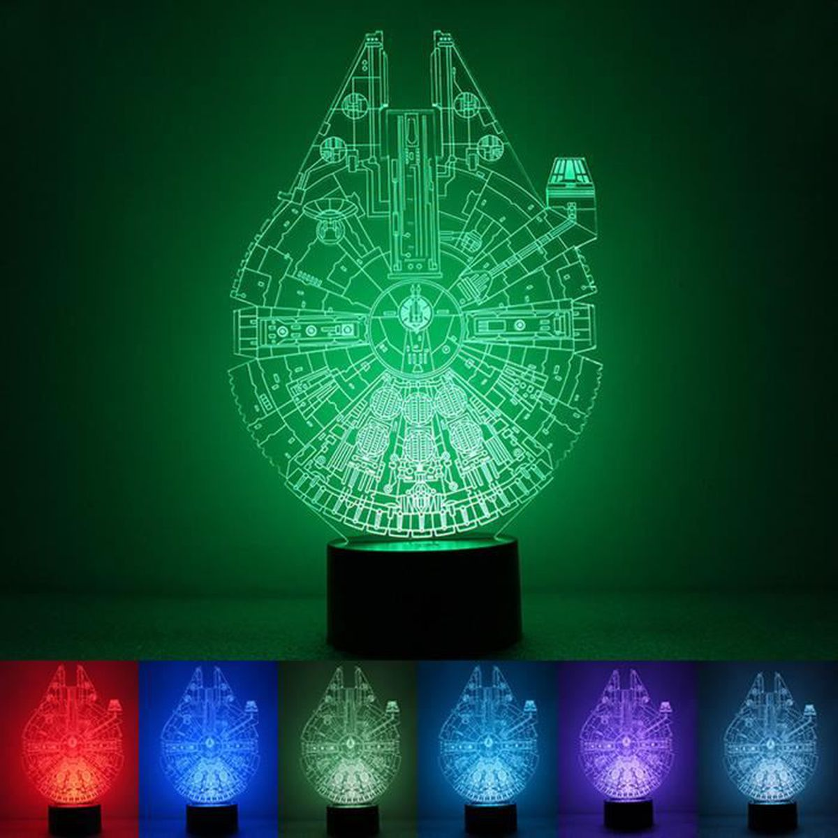 ebuy lampe veilleuse 3d star wars lampe led pour enfant. Black Bedroom Furniture Sets. Home Design Ideas