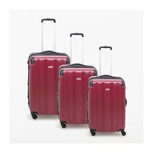 VALISE - BAGAGE Lot de 3 valises rigide 4 roues Horizon bordeaux M