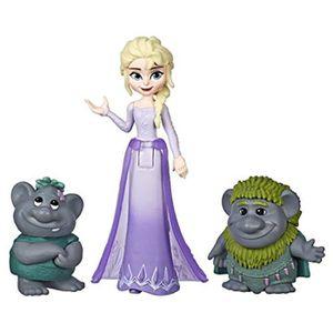 POUPÉE Poupee U8DJG Elsa petite poupée avec Troll Figures