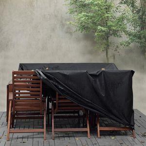 HOUSSE MEUBLE JARDIN  HOFUTON@Housse de protection pour table de jardin