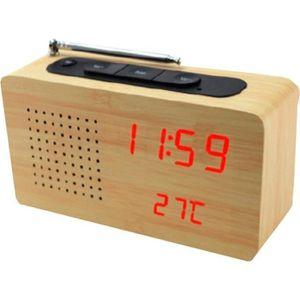Radio réveil Radio Réveil Numérique en Bois clair - Affichage L