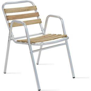 FAUTEUIL JARDIN  Fauteuil de jardin bois et aluminium - chaise de t