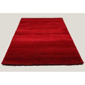 TAPIS Tapis de salon shaggy rouge SPENCER 3 L 120 cm L 1
