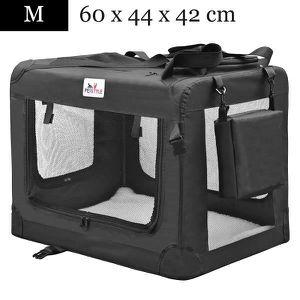 CAISSE DE TRANSPORT Cage de Transport Chien Pliable Charge Max 10 kg T