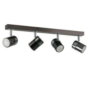 SPOTS - LIGNE DE SPOTS 4 Spot Plafonnier ou Applique. Rampe Rail Réglette