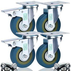 ROUE - ROULETTE DSL Lot de 4 roulettes pivotantes ultra-résistante