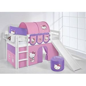 lit enfant mezzanine complet hello kitty rose parm achat vente lit mezzanine cdiscount. Black Bedroom Furniture Sets. Home Design Ideas