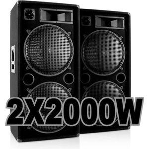 PACK SONO PACK 4000W avec 2 ENCEINTES 2000W .......100% CANO