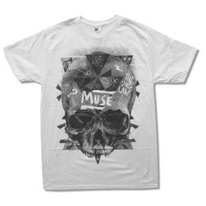 T-SHIRT Muse T-shirt Slim Fit Homme Décontracté Et Blanc C