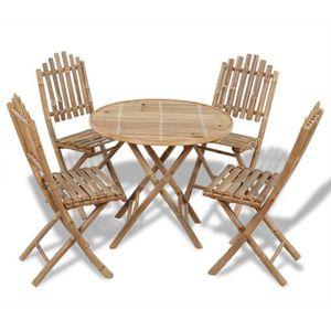 Table de jardin bambou