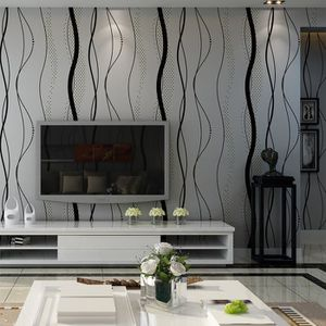 PAPIER PEINT NEUFU Papier Peint Mural 3D Courbe Stripe Tissu No