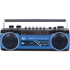 RADIO CD CASSETTE RADIO K7 BT BLEU USB SD RR 501 BT TREVI