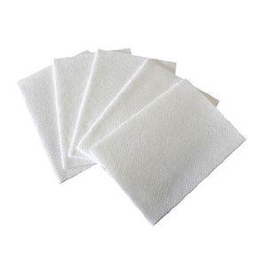 SERPILLIÈRE Lot de 25 lavettes non tissées blanche - 35 x 50 c