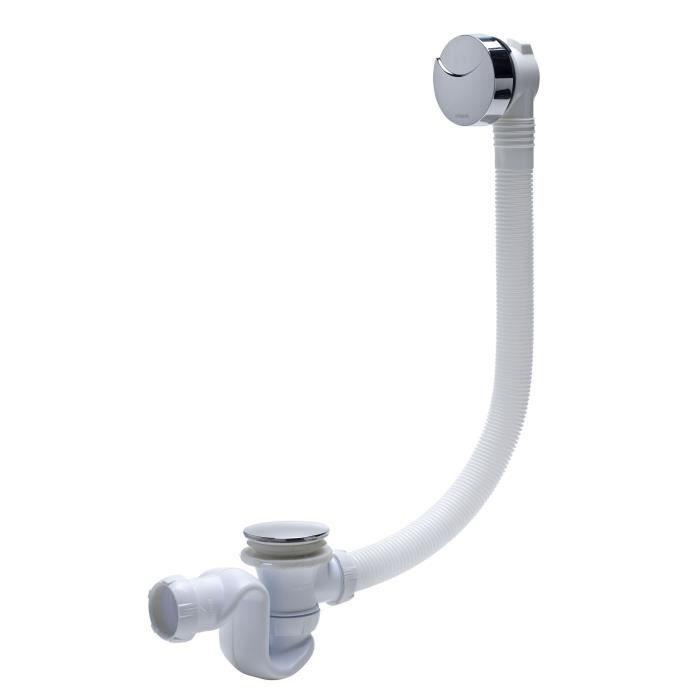 WIRQUIN Vidage de baignoire à câble L700 - Siphon cobra en ABS