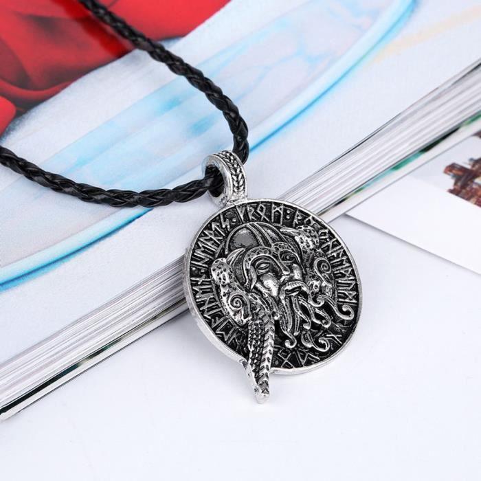 Collier Viking animal adolescent hommes Collier Pendentif bijoux à la mode Supernatural Am_CXX1025