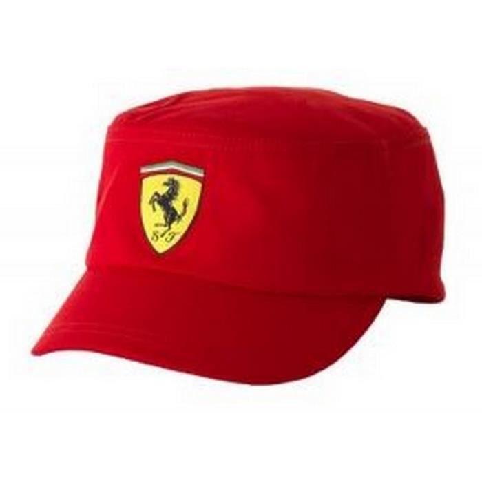 Casquette Militaire Ferrari Homme