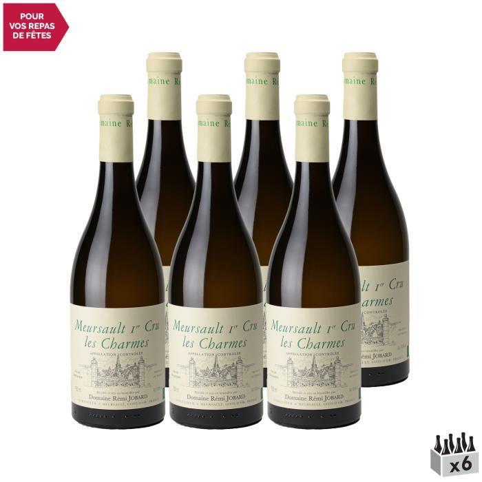 Meursault 1er Cru Charmes Blanc 2019 - Lot de 6x75cl - Domaine Rémi Jobard - Vin AOC Blanc de Bourgogne - Cépage Chardonnay