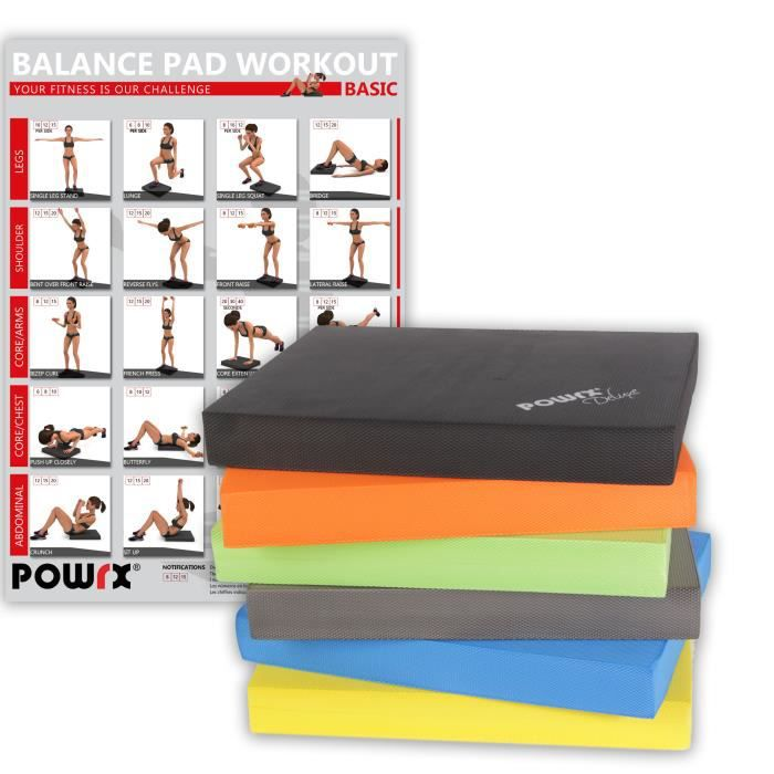 Balance Pad Deluxe en différentes couleurs / Tapis d´entraînement/ Coussin d´équilibre Couleur: Noir