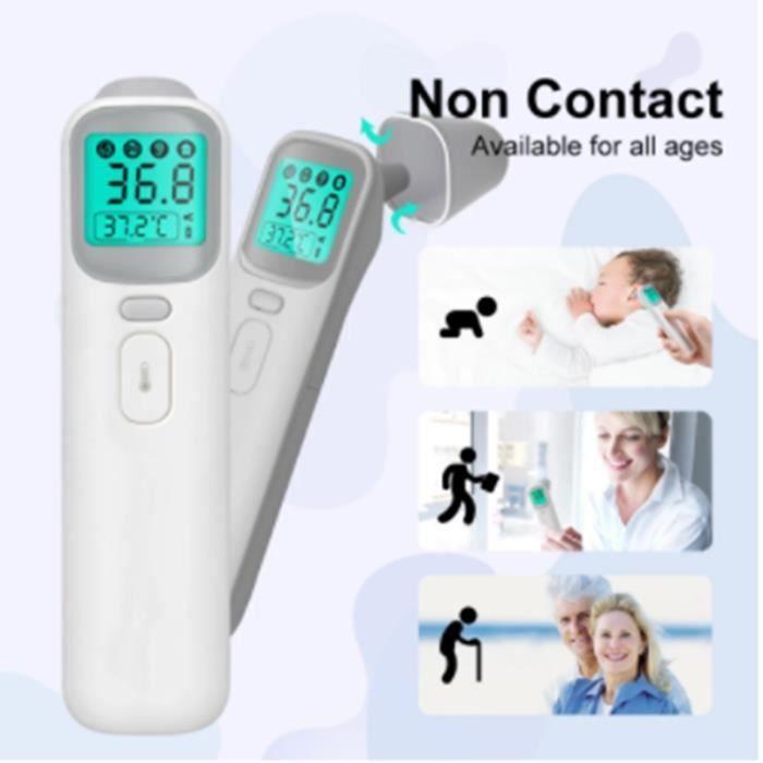 Thermomètre numérique infrarouge pour bébé et enfant, mesure rapide de la température, front et oreille sans Contact