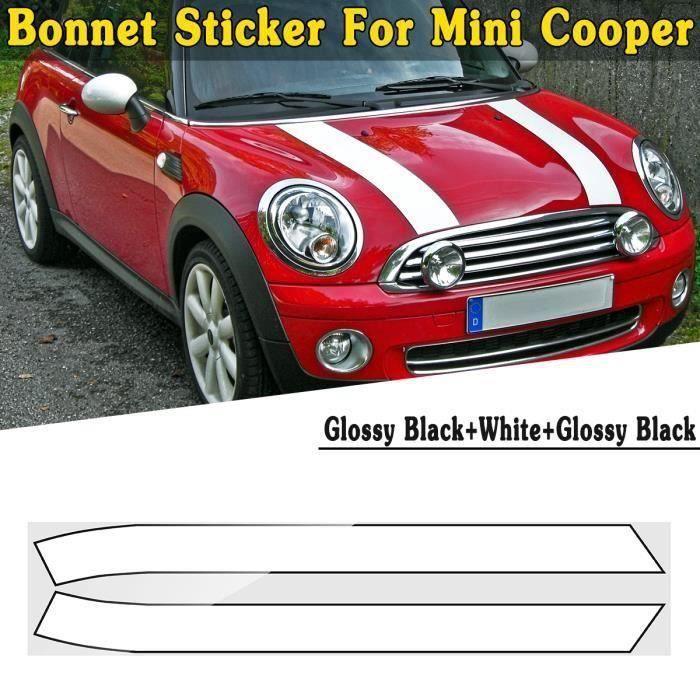 2PCS Moteur Capot Autocollant DIY Rayure Décoration Pour Mini Cooper Mini Cooper S TPYE A Bo44499
