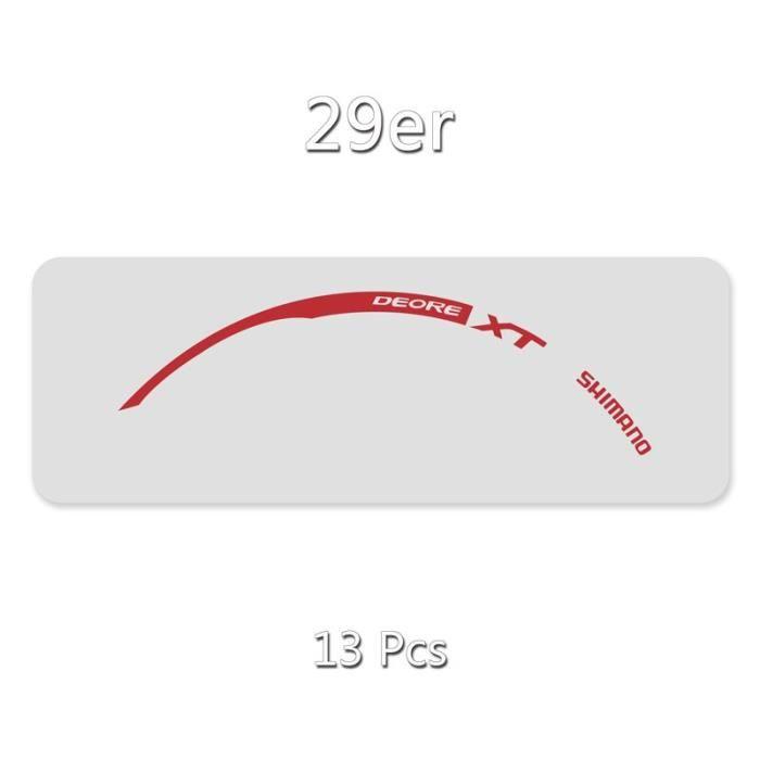 Accessoire vélo,Autocollants de jante de roue-décalcomanies de VTT-vélo pour SHIMANO XT M785 livraison - Type 29er Refle Red