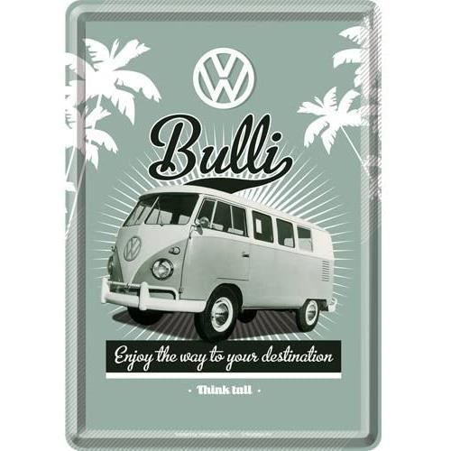 Plaque en Metal 10 x 14 cm - VW Retro Bulli