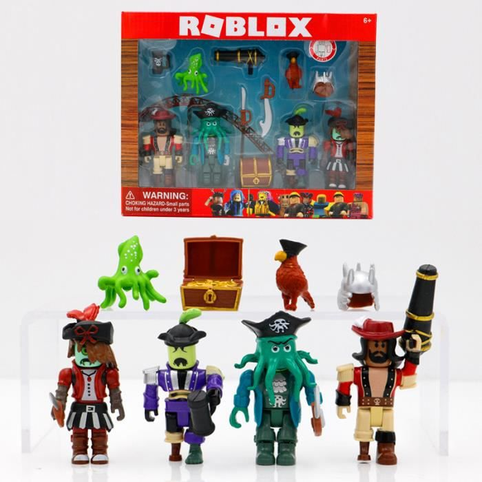 ROBLOX Pirate Showdown Mix & Match ensemble 7 cm PVC Suite jouets modèle Figurines blocs de construction cadeaux de noël