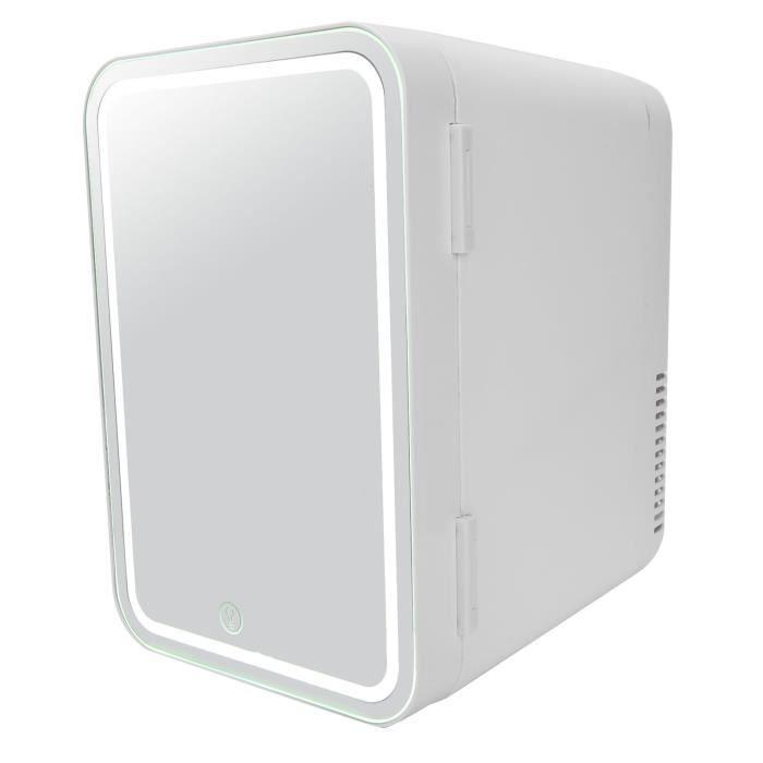 Tbest Mini réfrigérateur Mini Frigo de Maquillage 8L Miroir Réfrigérateur Cosmétique Refroidisseur Électrique de Maquillage