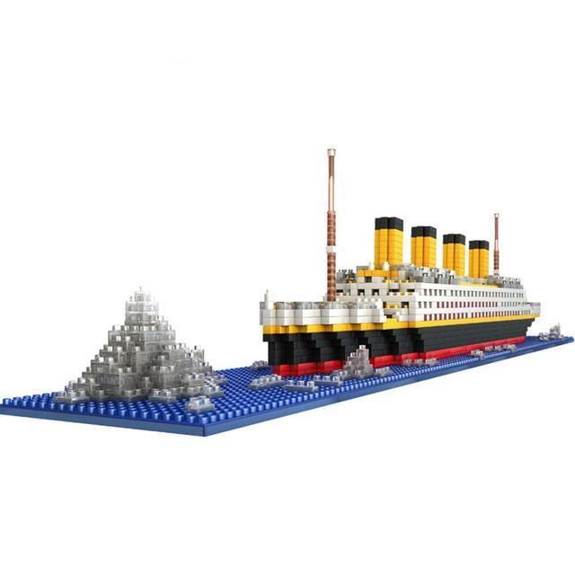 Blocs de construction du RMS Titanic pour enfant, cadeau de noël, jouets à construire soi-même, briques de collection, 1860 pièces