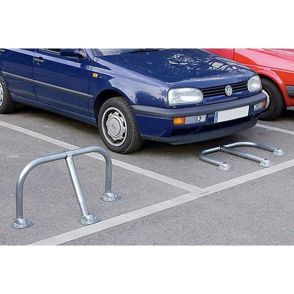 Barrière rabattable - serrures identiques Ø tubes 48 mm - Barrière de parking Délimitation de parking Marquage de parking Marquages