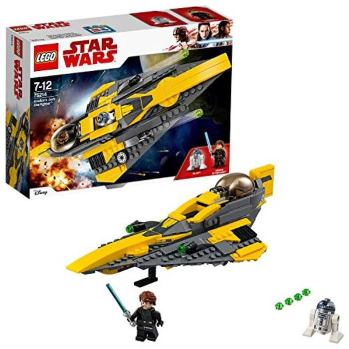 Kit Modelisme A Construire LEGO YBTN7 Wars Jedi Starfighter d'Anakin étoiles