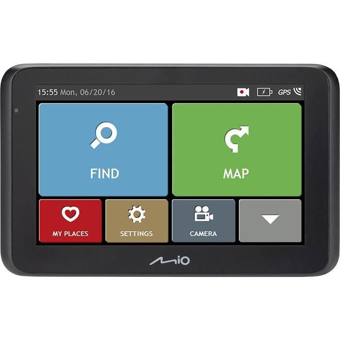 MIO MiVue Drive 50 LM GPS voiture - Caméra embarquée Full HD 130°- Aide à la conduite - GPS Intégré