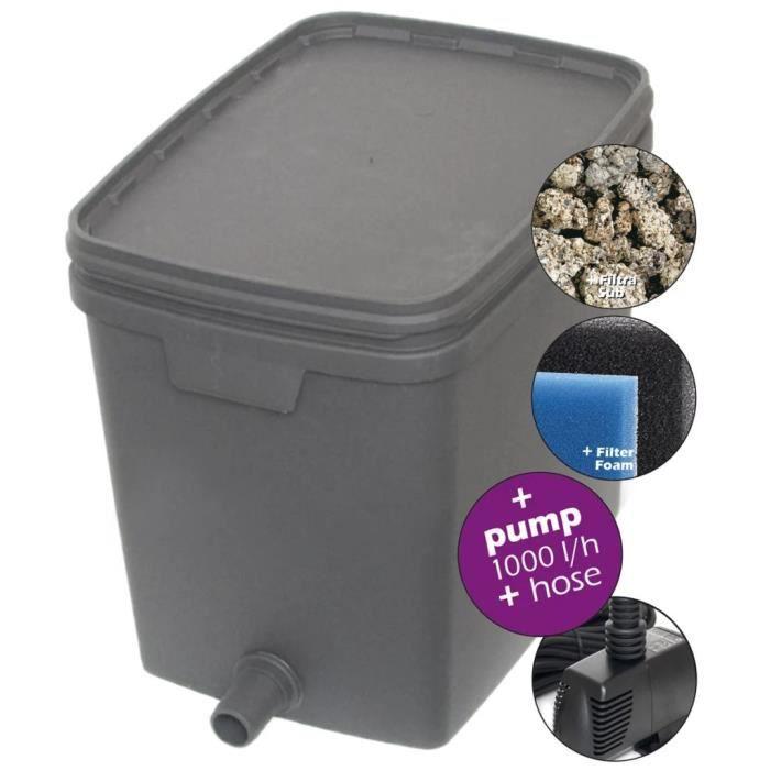 Filtre pour bassin 20 L avec pompe 1000 L 146037
