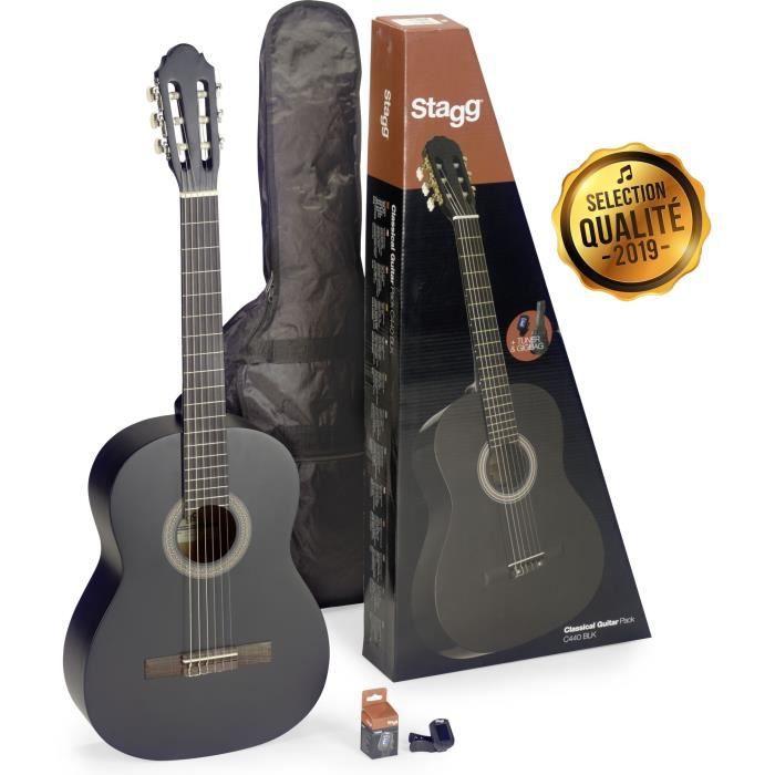 STAGG Pack Complet Guitare Classique C440 PACK 4/4 Noir