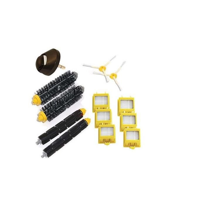 STOEX ®Roue avant & Brosses Latérales & filtres HEPA Kit pour aspirateur iRobot Roomba série 700 760 770 780 790