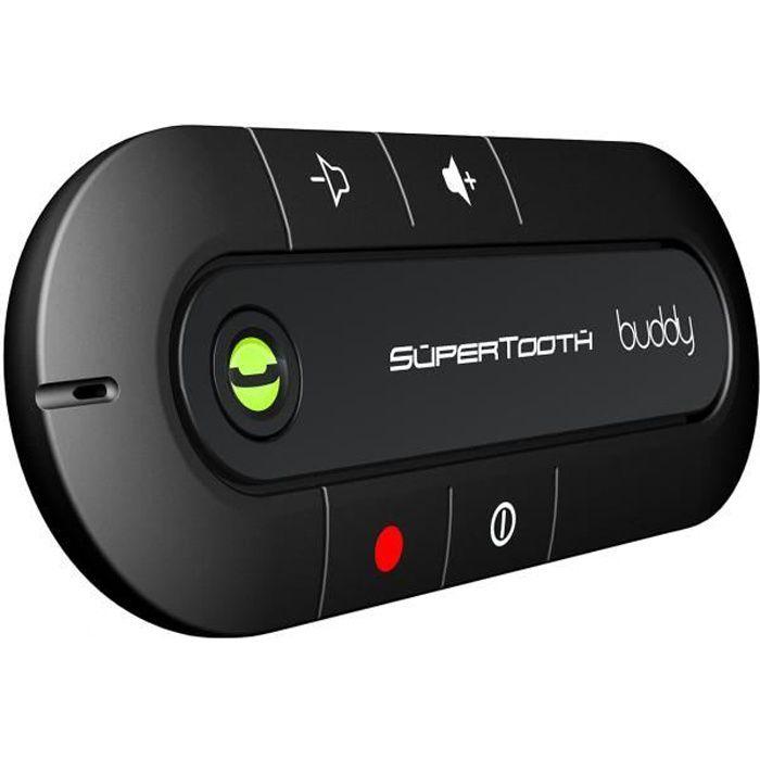 SuperTooth Kit-voiture mains libres Bleutooth pour pare-soleil Buddy - Noir