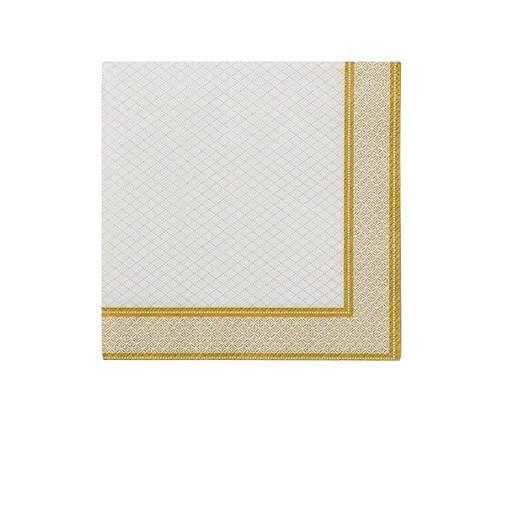 Serviette papier liseré or x20 25 cm Or