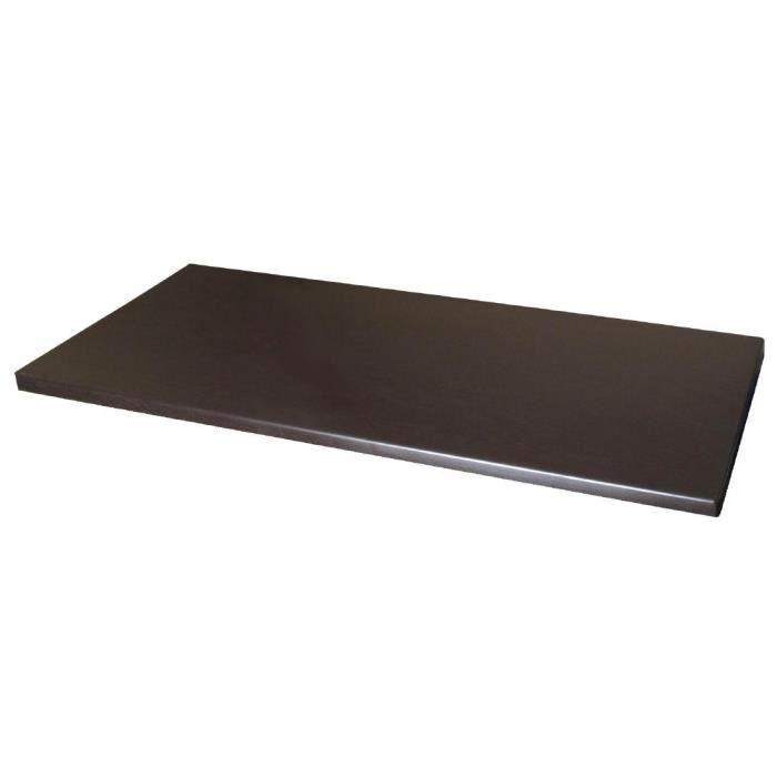 Werzalit Wengé Table rectangulaire Haut
