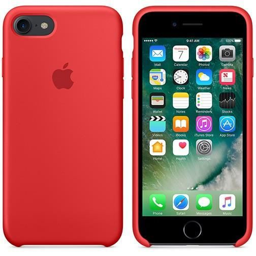 coque apple silicone iphone 7 rouge