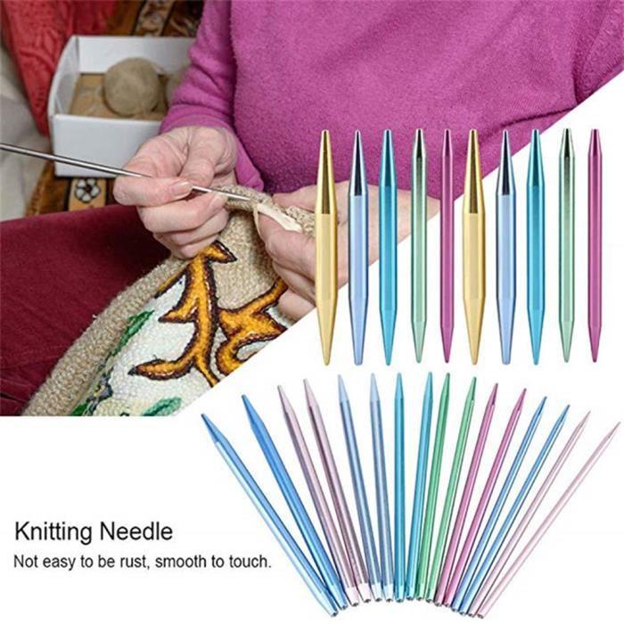 Kit D/'aiguilles à Tricoter Circulaires 13 Tailles D/'aiguilles Circulaires En