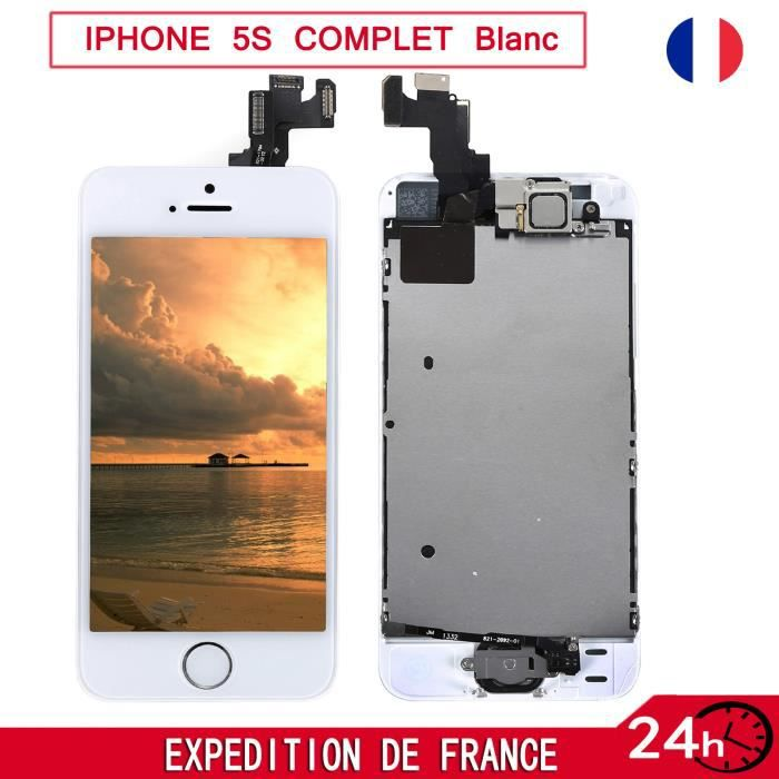 blanc complet ecran pour iphone 5s chassis home camera vitre tactile neuf achat pi ce. Black Bedroom Furniture Sets. Home Design Ideas