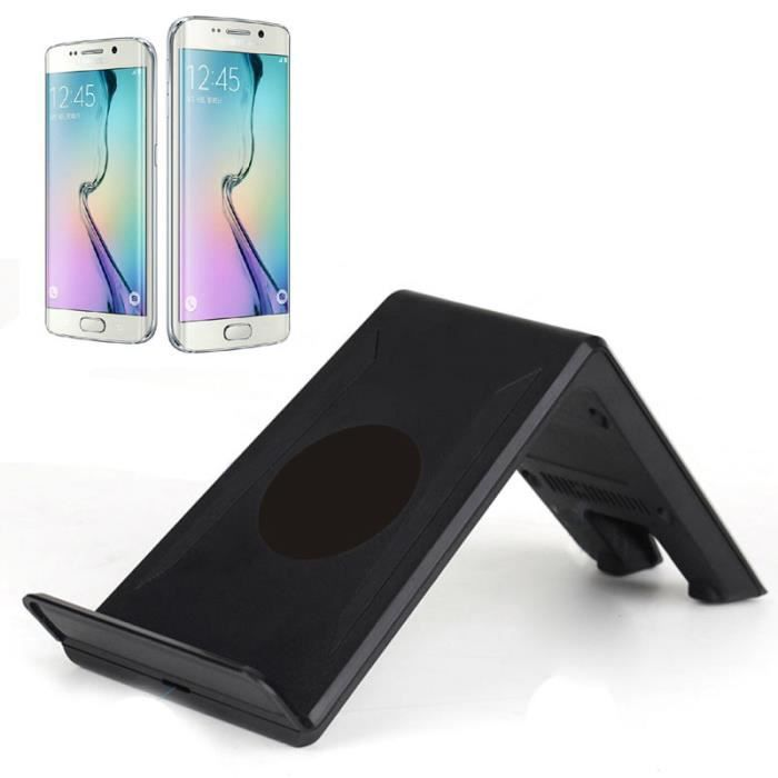 qi socle de chargeur sans fil pad pour samsung s6 edge plus note 5 support t l phone achat. Black Bedroom Furniture Sets. Home Design Ideas