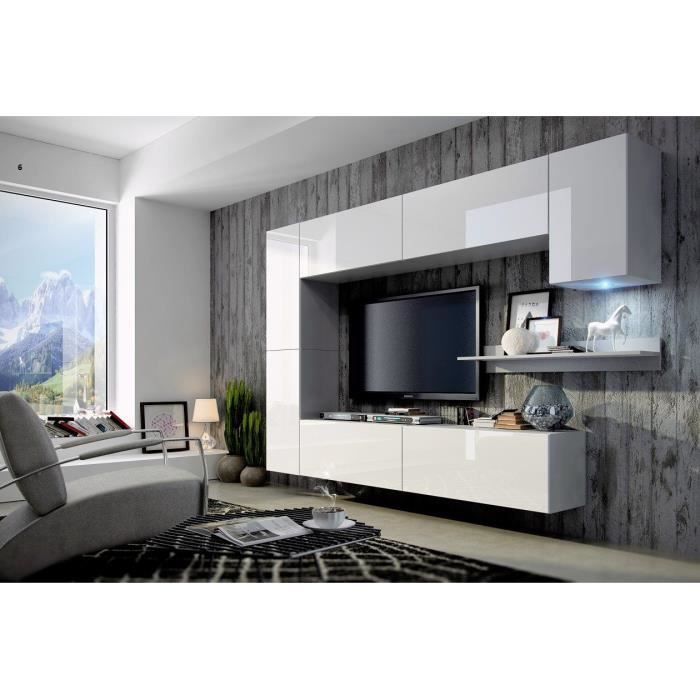 mur tv complet design concept 6 achat vente meuble tv mur tv complet design conce cdiscount. Black Bedroom Furniture Sets. Home Design Ideas
