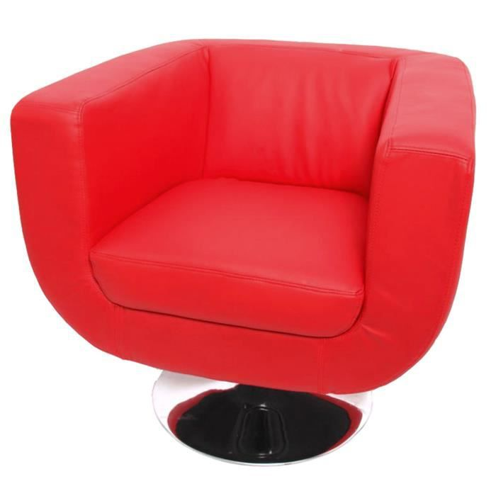 fauteuil lounge treviso ii pu polyur thane rouge achat vente fauteuil rouge cdiscount. Black Bedroom Furniture Sets. Home Design Ideas