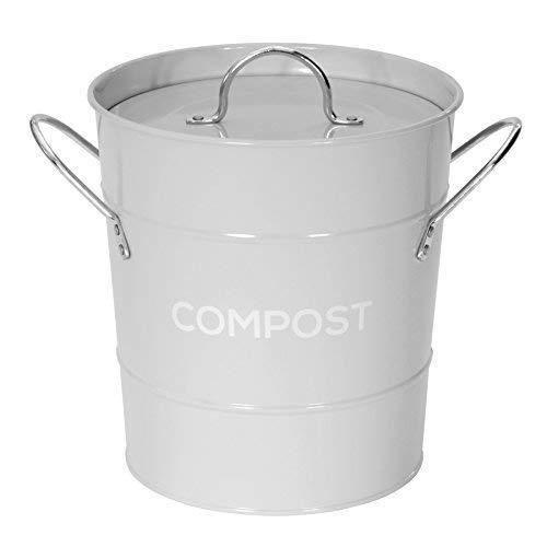 Gris Metal Leger De Recyclage De Compost Pour Cuisine Poubelle A