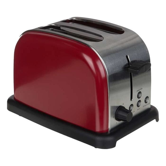 grille pain toaster retro vintage rouge achat vente. Black Bedroom Furniture Sets. Home Design Ideas