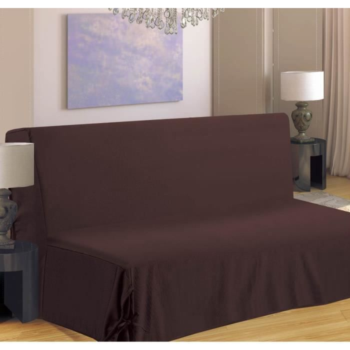 housse de canap bz 140x190 cm chocolat achat vente. Black Bedroom Furniture Sets. Home Design Ideas